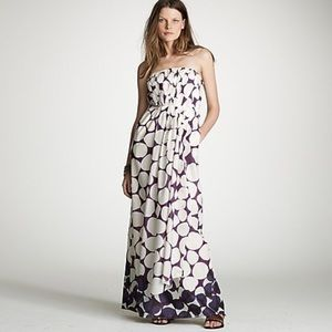 New J. Crew Collage Dot Seraphina Maxi Dress gown